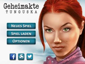 Das Hauptmenü von Geheimakte Tunguska (iOS)