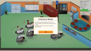 Nachrichten aus der Spieleindustrie (in: Game Dev Tycoon)